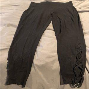 2 pairs of Torrid Capri leggings